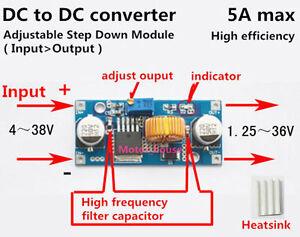 DC-DC-Buck-Step-down-5V-36V-to-3-3V-6V-9V-12V-24V-5A-Converter-Voltage-Regulator