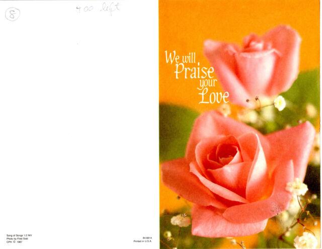 "Wedding Bulletin Flowers Man /& Woman Flowers 8 1//2/"" x 11/""  PACK OF 50 Cupid"