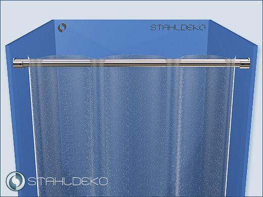 Stange für Duschvorhang Ø 20mm  bis 220cm Edelstahl-V2A