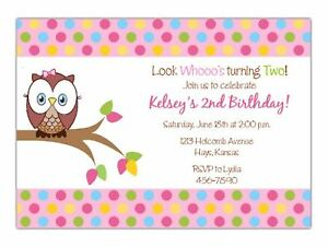 Owl Birthday Party INVITATION Look Whos Turning Digital Printable