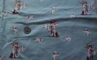 1 yd 1890-1910 juvenile print flannel, Kitten as ringmaster, extremely cute!