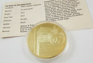 William amp Kate Royal Wedding 2011 William Proposes to Kate Proof Coin - WORCESTERSHIRE, United Kingdom - William amp Kate Royal Wedding 2011 William Proposes to Kate Proof Coin - WORCESTERSHIRE, United Kingdom