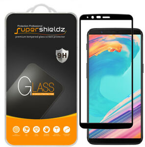 sports shoes 4bc20 06b31 Details about Supershieldz for OnePlus 5T Full Cover Tempered Glass Screen  Protector (Black)