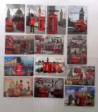 10 X Love London Union Jack London Eye Big Ben UK Souvenir Fridge Magnet 8cmX5cm