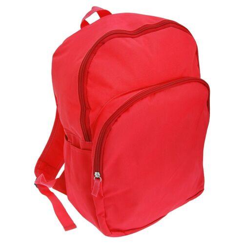 Plain Red Backpack Rucksack School Bag Childrens Boys Girls