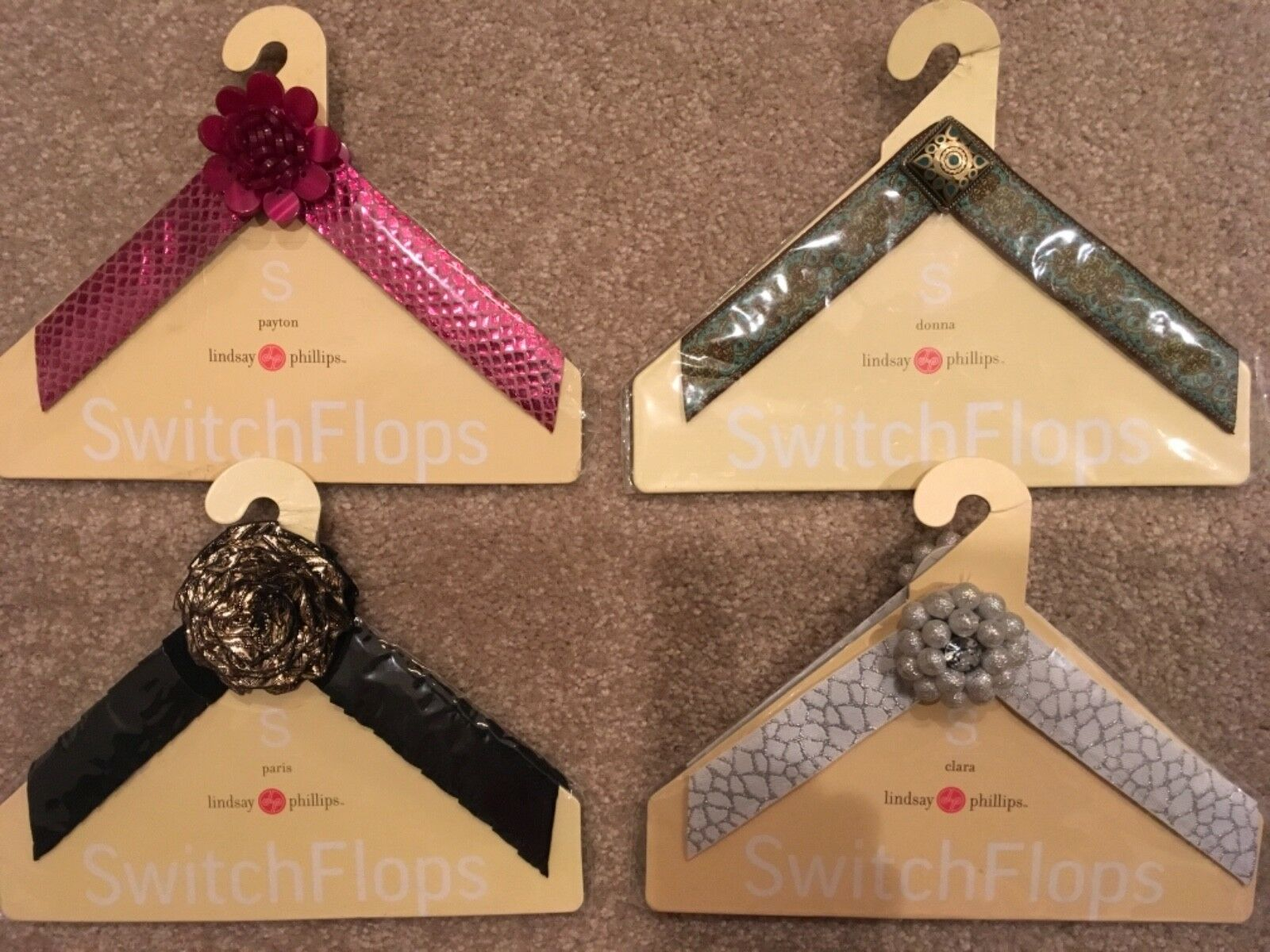 NEW HUGE LOT Lindsay Phillips Switchflops Straps - size small 5/6 - 4 sets