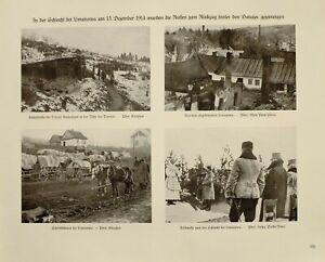 1916 Wwi Ww1 Imprimé Allemand Magazine Limanowa Dunajec Médical Waggon Train