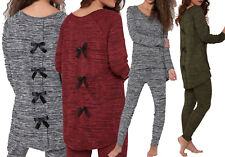 Womens Cheap Bow Back Lounge Suit Plus Size Tracksuit Xmas Gift Loungewear 8-26