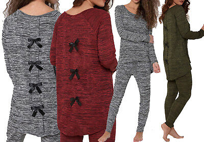 Ladies Women Plain Snake Pom Pom Lounge Wear Set Joggers Tracksuit Pants 8-26