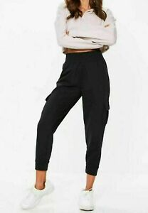Womens-Oversized-Ladies-Cuffed-Cargo-Fleece-Jogging-Trouser-Jogger-Bottoms-Pants
