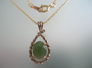 Nature Taiwan Jade Pendant In Rose Gold Plated W Not W 14k Gold Filled Chain Ebay