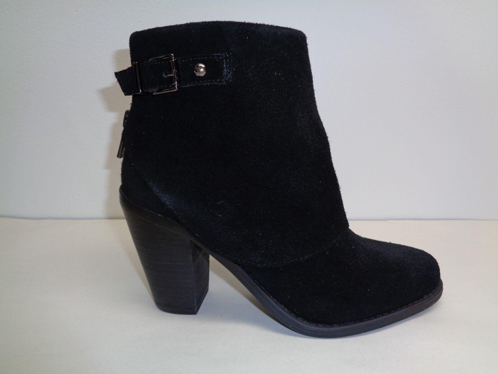 Jessica Simpson Talla 8.5 cassley Negro botas al Tobillo Gamuza Gamuza Gamuza Split Nuevos Zapatos para mujer c65733