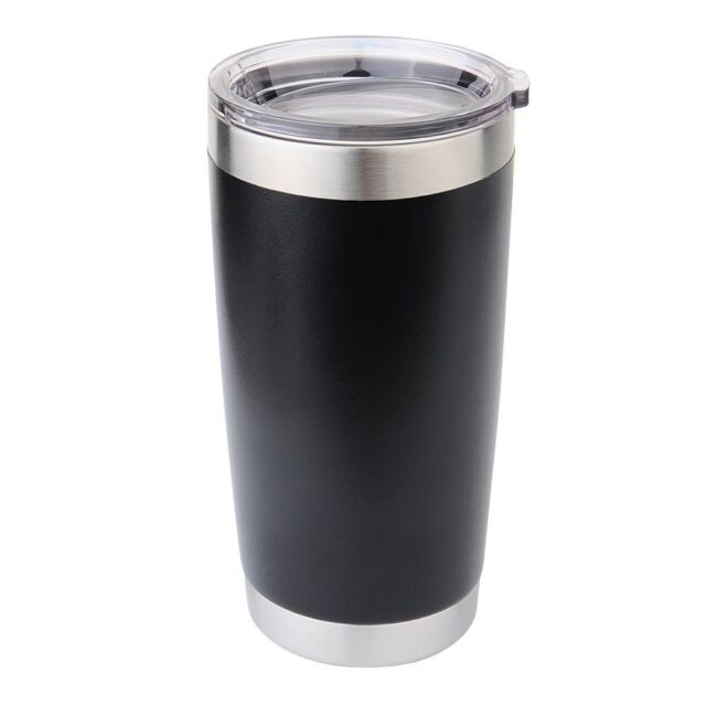 PERSONALIZED - Stainless Steel Double Wall Vacuum Tumbler - Matte Black - 20oz