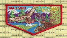 BSA OA LODGE 363 MA I SHU SNAKE RIVER COUNCIL 2001 S-43 RED BORDER ONLY 50 MADE!