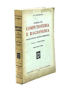 Ugo-Benedetti-CORSO-DI-COMPUTISTERIA-E-RAGIONERIA-vol-1-1948-Hoepli