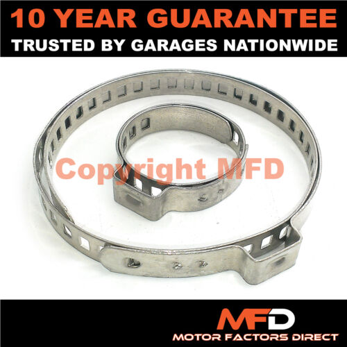 CAR ATV FITS 99/% OF VEHICLES CV BOOT STAINLESS STEEL CLAMPS PAIR