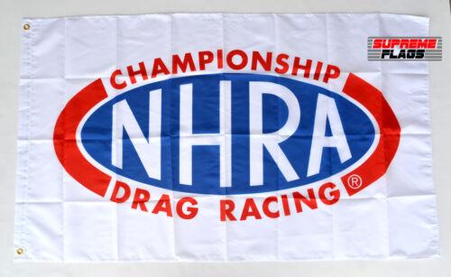 NHRA Flag Banner 3x5 ft Championship Drag Racing Wall Garage Car White