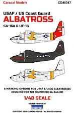 Caracal Decals 1/48 GRUMMAN SA-16 & UF-1G ALBATROSS U.S.A.F. & U.S. Coast Guard