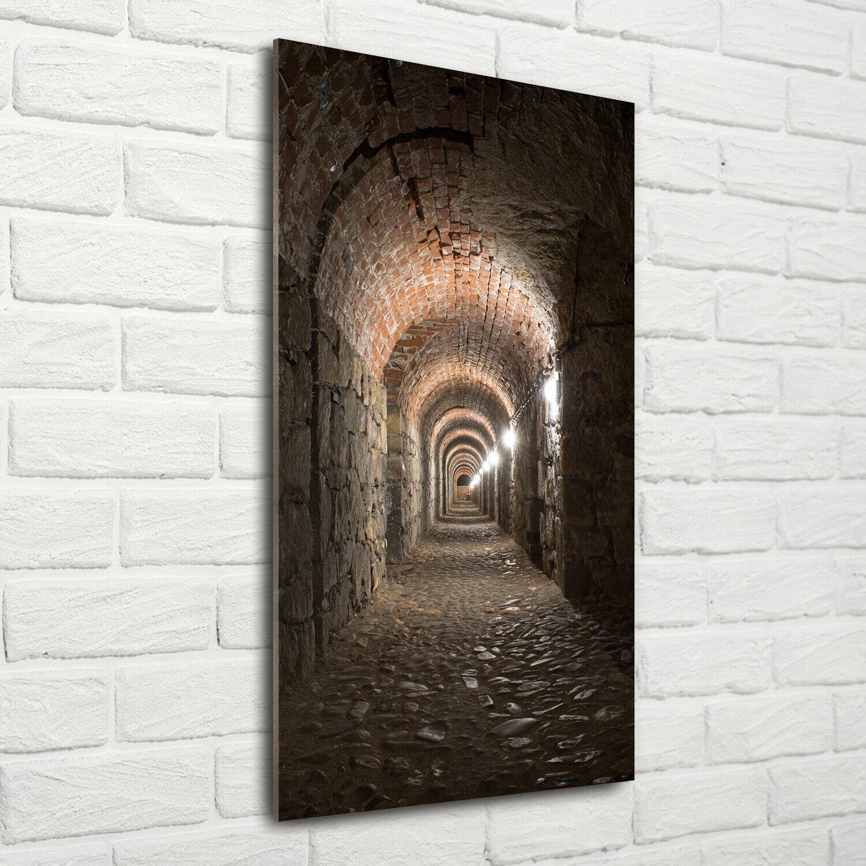 Wand-Bild Kunstdruck aus Acryl-Glas Hochformat 70x140 Keller