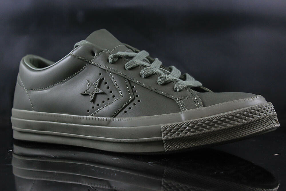 MENS TENNIS SHOES CONVERSE ONE STAR OX 160281C DARK OLIVE SIZE  7