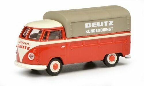 "NEU! Schuco 1:87 452650400 Volkswagen VW T1 /""Servizio Vespa/"""