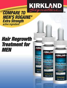Minoxidil For Men Hair Loss Regrowth Treatment Extra Strength 5% 3mo Kirkland