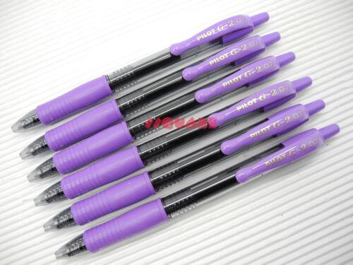 12 x Pilot G-2 0.7mm Fine Encre Gel Ink Rollerball Pens Tracking no. Violet