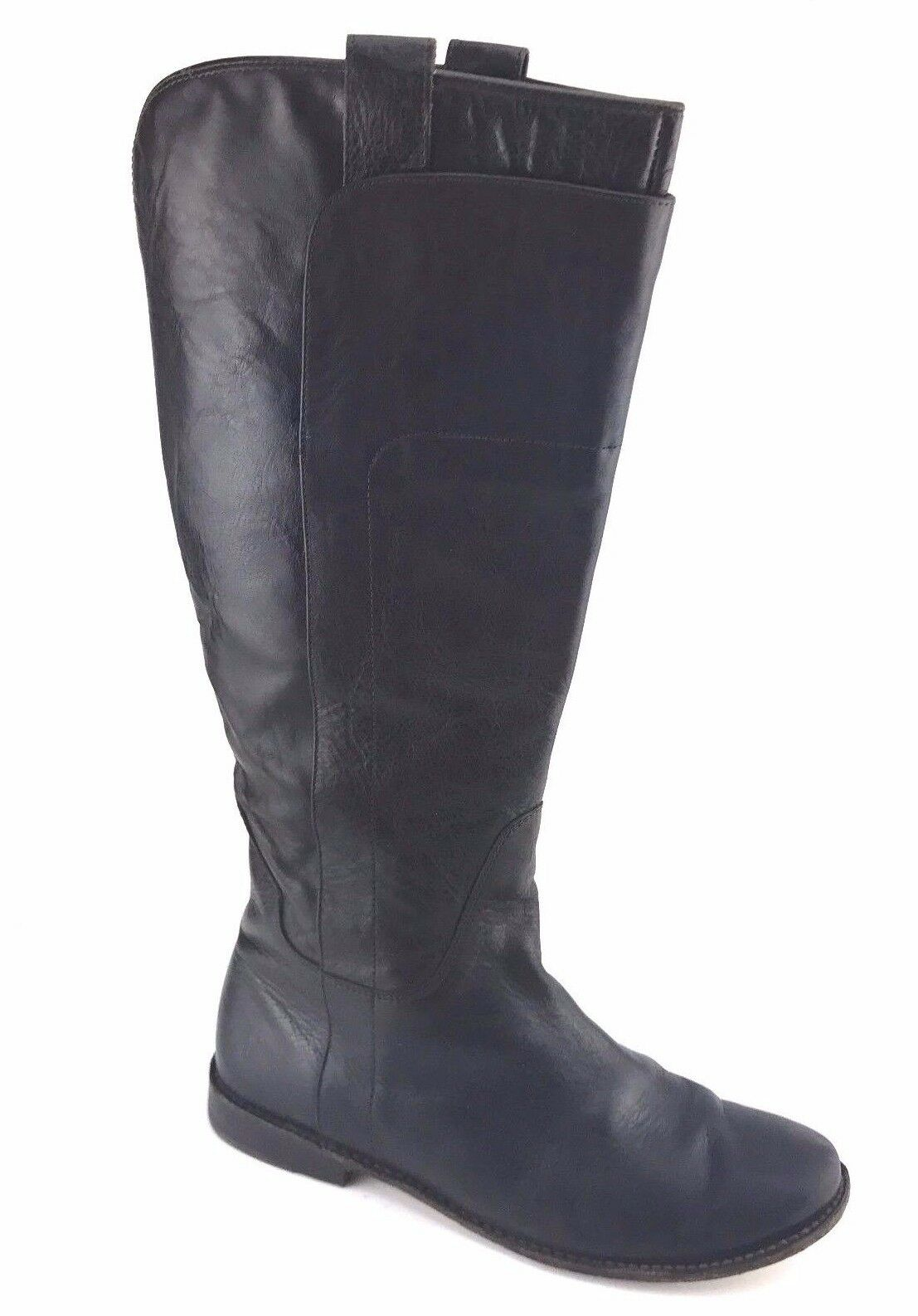 FRYE Paige Tall Knee High Riding Boot Distressed Brown Leather Womens SIZE 9.5 B