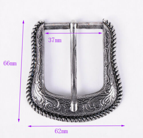 Rodeo Western Texas Cowboy Buckle 37MM Antique Silver Leather Belt Pin Buckle
