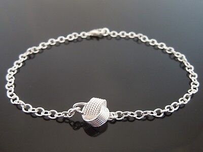 """3mm Sterling Silver Bracelet Or Ankle Chain Tree Of Life Charm 7/"""" 8/"""" 9/"""" 10/"""" 11/"""""""