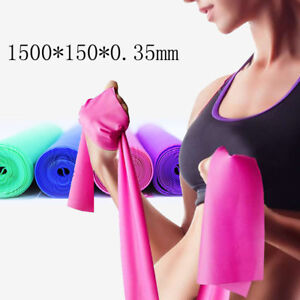 Fitness & Body Building 1.5m Arm Back Leg Fitness Thickness 0.35mm Resistance Band Elastic Yoga Pilates Rubber Stretch Exercise Band At Any Cost