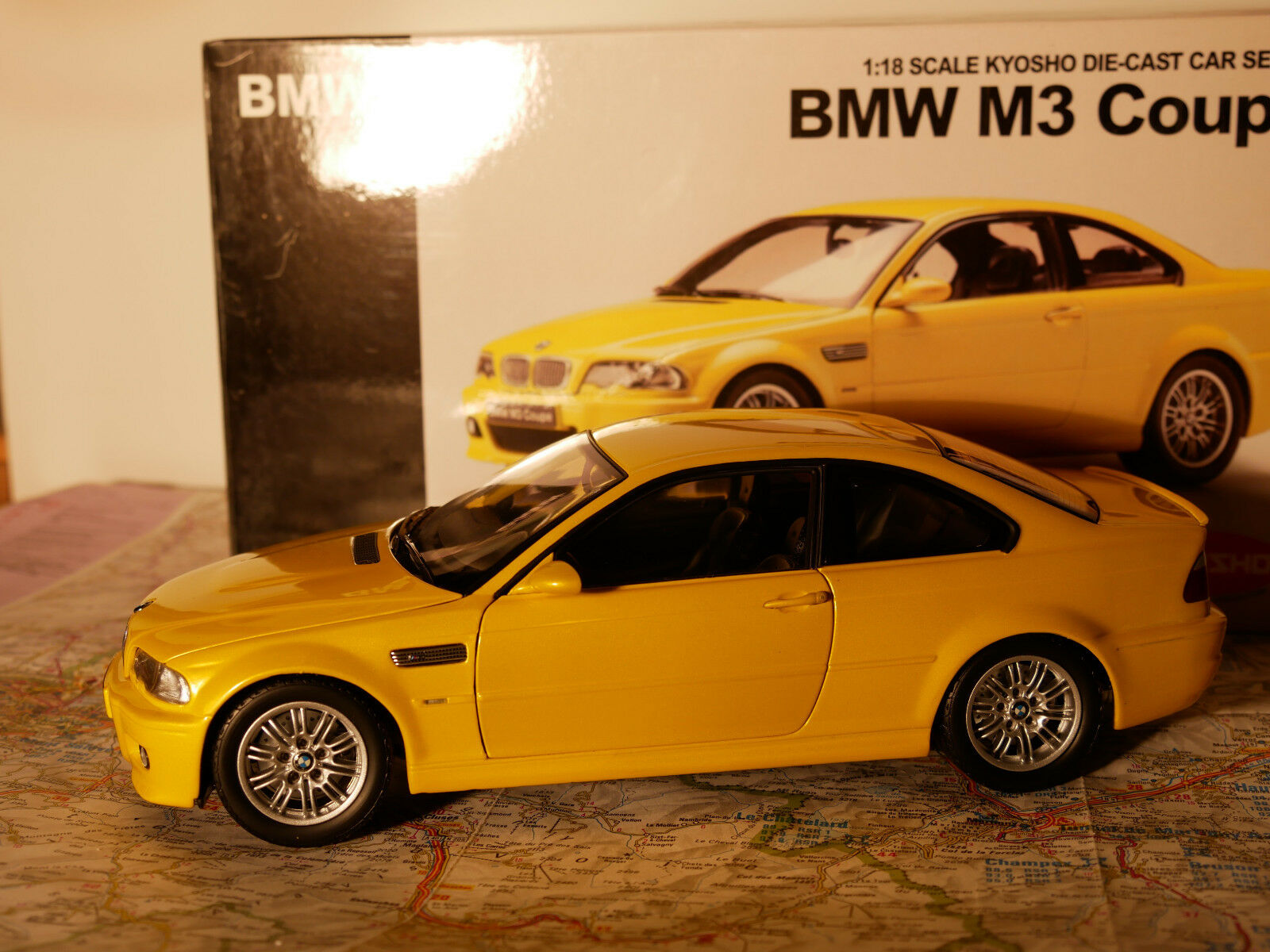 KYOSHO BMW M3 COUPE Gelb  ART.08503Y + BOX 1 18 NEW