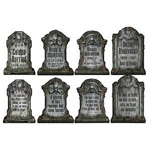 4-Effrayant-Tombstone-decoupes-Fete-d-039-Halloween-Prop-Decorations