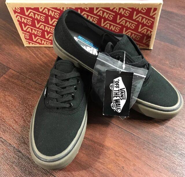 63e5542da400 VANS Authentic Pro Canvas Black gum Men s Classic Skate Shoes Size ...