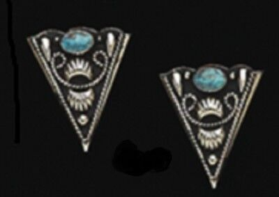 Western Stone Collar Tips Turquoise