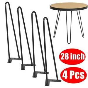 28inch Hairpin Legs//Hair Pin Legs Furniture Bench Desk Coffee Table UK Seller
