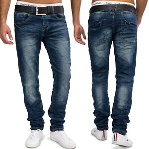 Herren-Jeansnet-Regular-Fit-Jeans-PUBLIO-Denim-Stone-Washed-Hose-Jeanshose