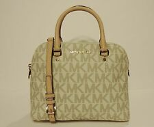 New MICHAEL Kors Cindy MD Convertible Dome pvc monogram leather bag satchel Tote