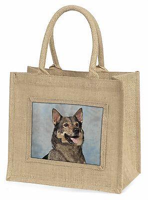 Schwedischer Vallhund Hund Große Natürliche Jute-einkaufstasche Weihnachten,