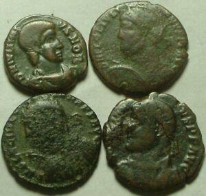 Rare Genuine Ancient Roman coins Julian II Apostate shield, Jovian Laurel wreath