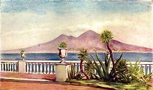 Napoli: Posillipo: Panorama da Villa Gallotti. Stampa Antica + ...