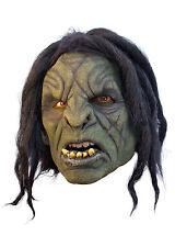 Battle Merchant Ork-Maske Grün Haare Fasching Halloween Monster LARP Gummimaske