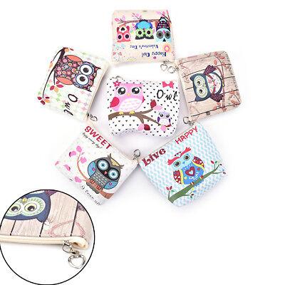 Women PU Zipper Coin Purse For Kids Owl Coin Wallet Pouch Girls Card Key Bag AL