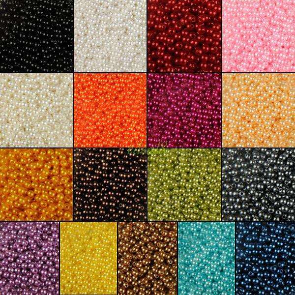 4/6/8/10mm Round Gem Pearl Loose Beads For Jewelry Crafts Necklace Making DIY