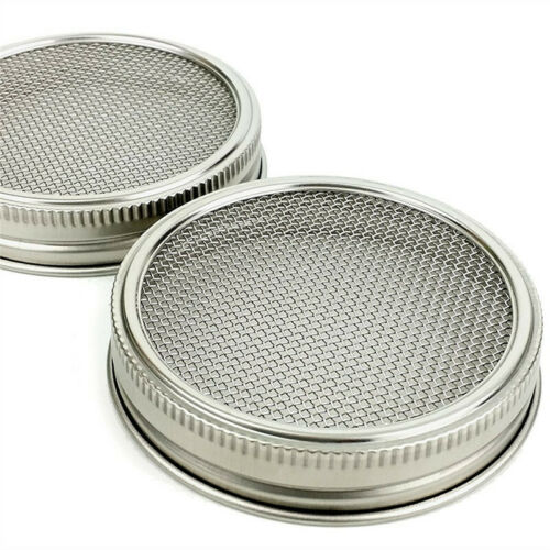4pcs Stainless Steel Sprouting Lids Jar Strainer Lid for Wide Mouth Mason Jars