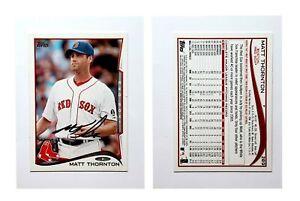 Matt-Thornton-Signed-2014-Topps-289-Card-Boston-Red-Sox-Auto-Autograph