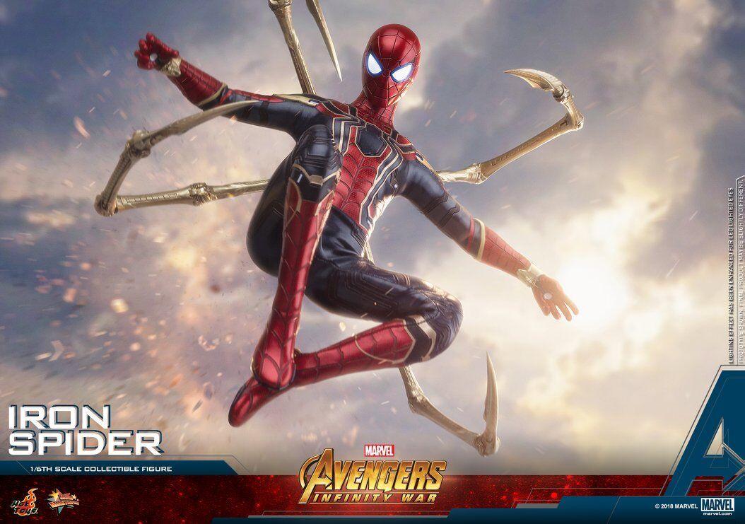 El aclaramiento  Hot Juguetes 1 6 Vengadores Infinito Guerra MMS482 Iron Spider-Man 12  figura