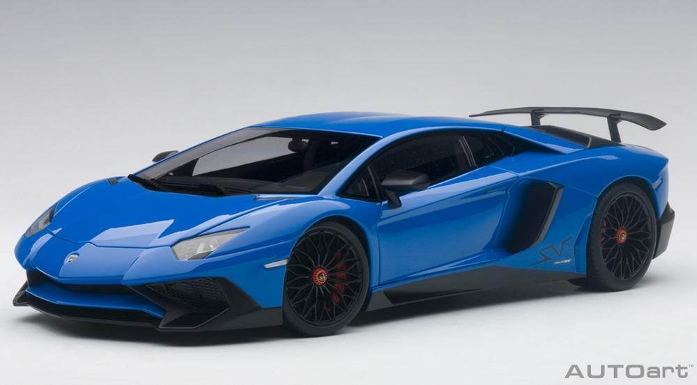 LAMBORGHINI AVENTADOR SV LP750-4 Azul 1:18 by AUTOART 74559 COMPOSITE NEW IN BOX