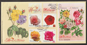 F299Z-MALAYSIA-2003-ROSES-IN-MALAYSIA-STAMPS-amp-MS-ON-1-FDC