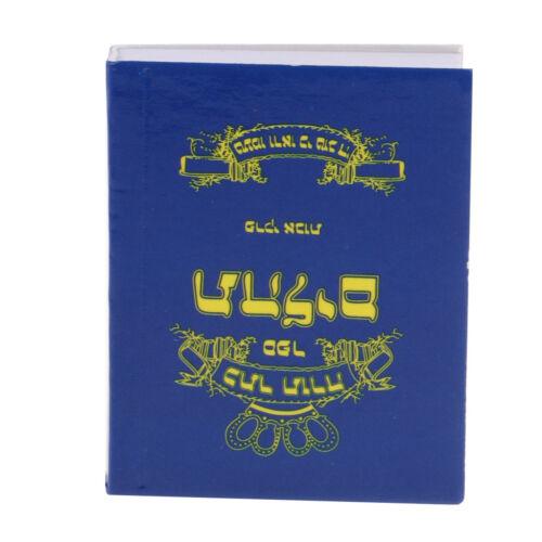 Minaiture Holy Bible für 1//6 Dollhouse Action Figure Dolls mit blauem